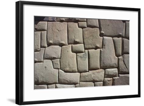 Magnificent Inca Wall, Cuzco, UNESCO World Heritage Site, Peru, South America-Peter Groenendijk-Framed Art Print
