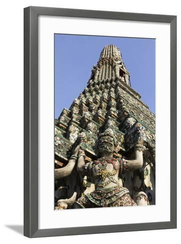 Wat Arun (The Temple of Dawn) Stupa, Bangkok, Thailand, Southeast Asia, Asia-Stuart Black-Framed Art Print
