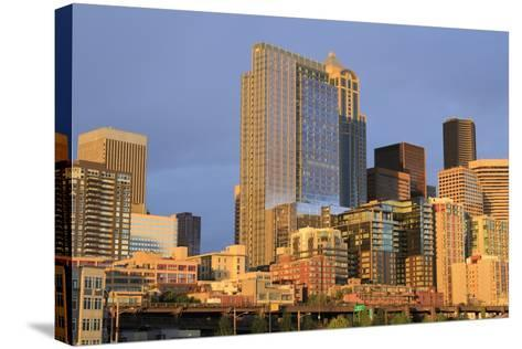 Seattle Skyline, Washington State, United States of America, North America-Richard Cummins-Stretched Canvas Print