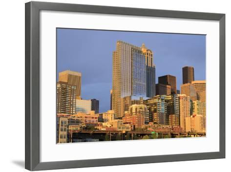 Seattle Skyline, Washington State, United States of America, North America-Richard Cummins-Framed Art Print