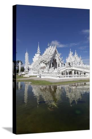 Wat Rong Khun (White Temple), Chiang Rai, Northern Thailand, Thailand, Southeast Asia, Asia-Stuart Black-Stretched Canvas Print