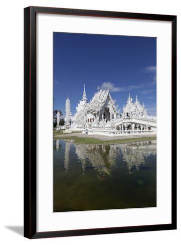Wat Rong Khun (White Temple), Chiang Rai, Northern Thailand, Thailand, Southeast Asia, Asia-Stuart Black-Framed Art Print