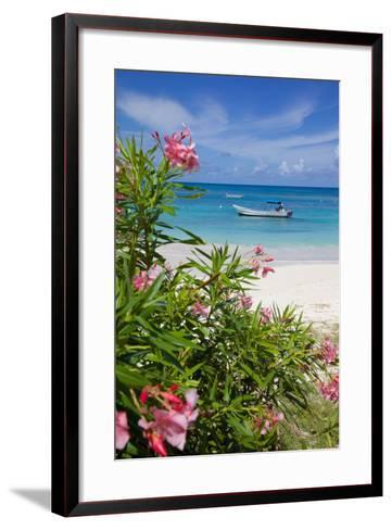 Long Bay and Beach, Antigua, Leeward Islands, West Indies, Caribbean, Central America-Frank Fell-Framed Art Print