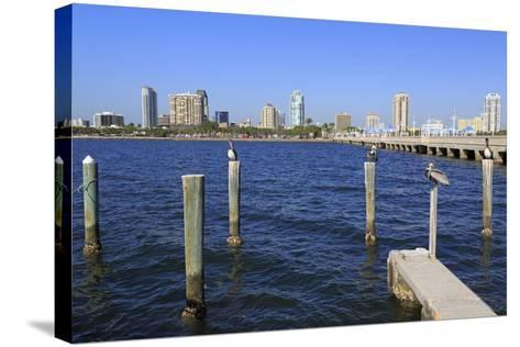 St. Petersburg Skyline, Tampa, Florida, United States of America, North America-Richard Cummins-Stretched Canvas Print