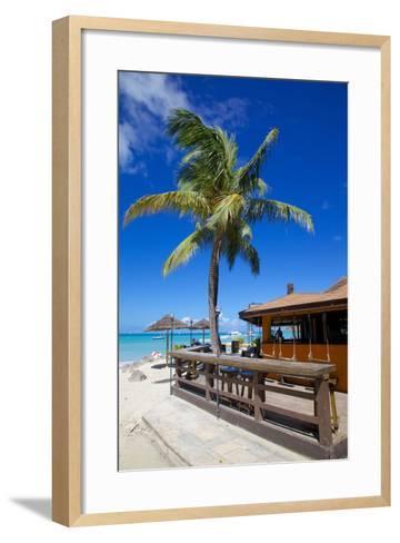 Beach and Beach Bar-Frank Fell-Framed Art Print