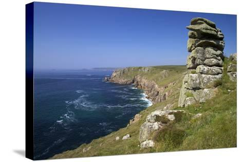 Looking to Sennen Cove from Lands End, Summer Sunshine, Cornwall, England, United Kingdom, Europe-Peter Barritt-Stretched Canvas Print