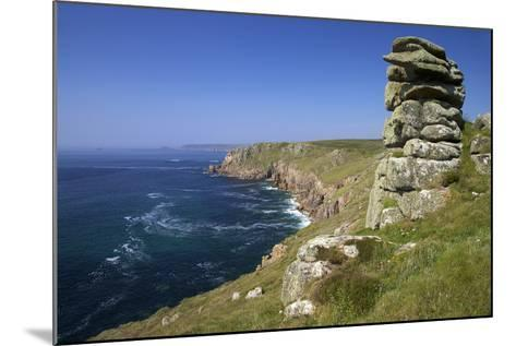 Looking to Sennen Cove from Lands End, Summer Sunshine, Cornwall, England, United Kingdom, Europe-Peter Barritt-Mounted Photographic Print