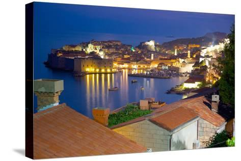 Old Town, UNESCO World Heritage Site, at Dusk, Dubrovnik, Dalmatia, Croatia, Europe-Frank Fell-Stretched Canvas Print