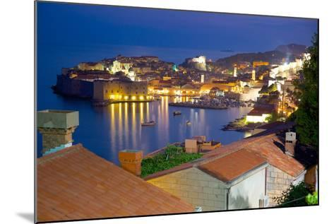 Old Town, UNESCO World Heritage Site, at Dusk, Dubrovnik, Dalmatia, Croatia, Europe-Frank Fell-Mounted Photographic Print