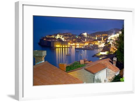 Old Town, UNESCO World Heritage Site, at Dusk, Dubrovnik, Dalmatia, Croatia, Europe-Frank Fell-Framed Art Print