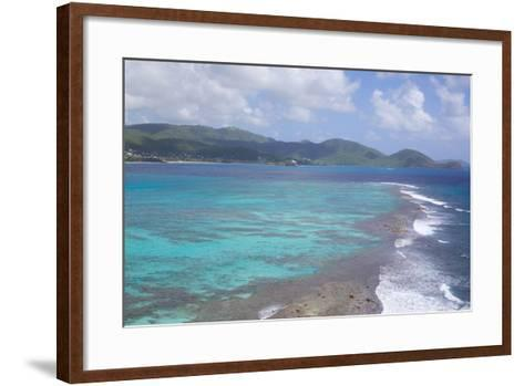 View over South Coast and Coral Reef-Frank Fell-Framed Art Print