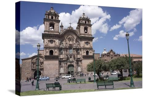 Company of Jesus Church, Plaza De Armas, Cuzco, Peru, South America-Peter Groenendijk-Stretched Canvas Print