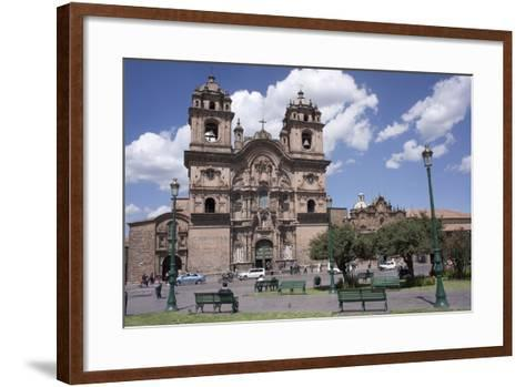 Company of Jesus Church, Plaza De Armas, Cuzco, Peru, South America-Peter Groenendijk-Framed Art Print