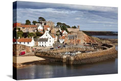 Incoming Tide at Crail Harbour, Fife, Scotland, United Kingdom, Europe-Mark Sunderland-Stretched Canvas Print
