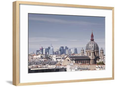 La Defense Rising Above the Rooftops of Paris, France, Europe-Julian Elliott-Framed Art Print