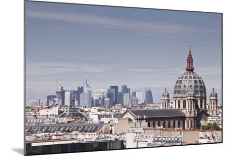 La Defense Rising Above the Rooftops of Paris, France, Europe-Julian Elliott-Mounted Photographic Print