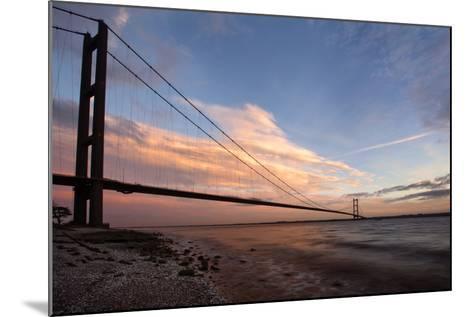 The Humber Bridge at Dusk, East Riding of Yorkshire, Yorkshire, England, United Kingdom, Europe-Mark Sunderland-Mounted Photographic Print
