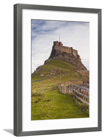 Lindisfarne Castle on Holy Island, Northumberland, England, United Kingdom, Europe-Julian Elliott-Framed Art Print