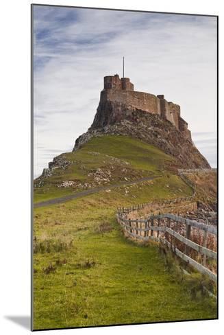 Lindisfarne Castle on Holy Island, Northumberland, England, United Kingdom, Europe-Julian Elliott-Mounted Photographic Print