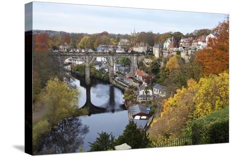 Viaduct over the River Nidd at Knaresborough-Mark Sunderland-Stretched Canvas Print