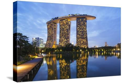 Marina Bay Sands Hotel, Singapore, Southeast Asia, Asia-Christian Kober-Stretched Canvas Print