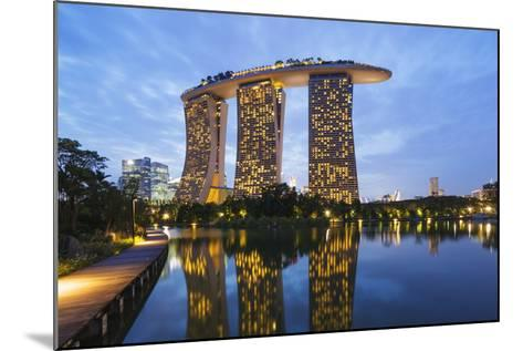 Marina Bay Sands Hotel, Singapore, Southeast Asia, Asia-Christian Kober-Mounted Photographic Print