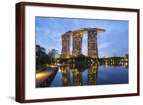 Marina Bay Sands Hotel, Singapore, Southeast Asia, Asia-Christian Kober-Framed Art Print