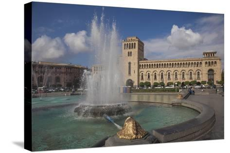 Republic Square, Yerevan, Armenia, Central Asia, Asia-Jane Sweeney-Stretched Canvas Print