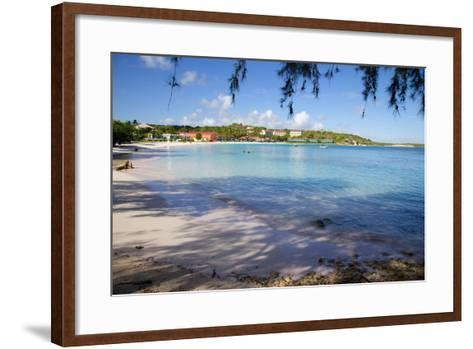 View of Long Bay and Beach-Frank Fell-Framed Art Print