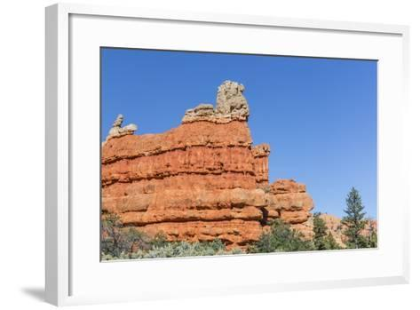Red Sandstone Formations in Red Canyon-Michael Nolan-Framed Art Print