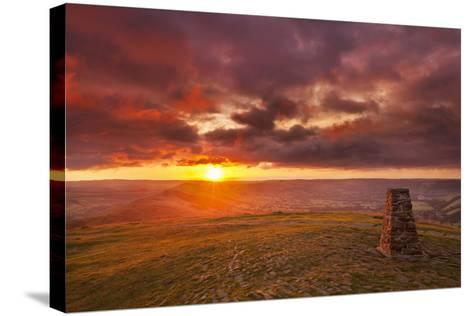 Sunrise on Great Ridge, Mam Tor, Hope Valley, Peak District National Park, Derbyshire-Neale Clark-Stretched Canvas Print