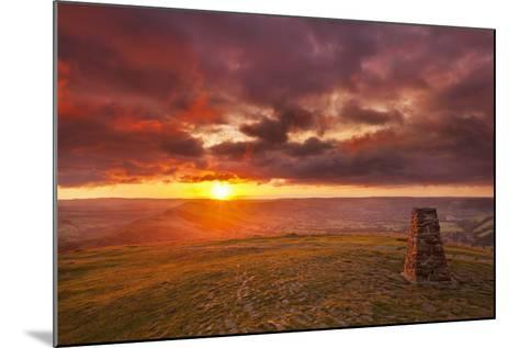 Sunrise on Great Ridge, Mam Tor, Hope Valley, Peak District National Park, Derbyshire-Neale Clark-Mounted Photographic Print