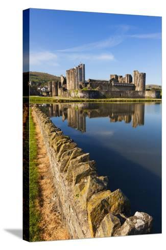 Caerphilly Castle, Gwent, Wales, United Kingdom, Europe-Billy Stock-Stretched Canvas Print