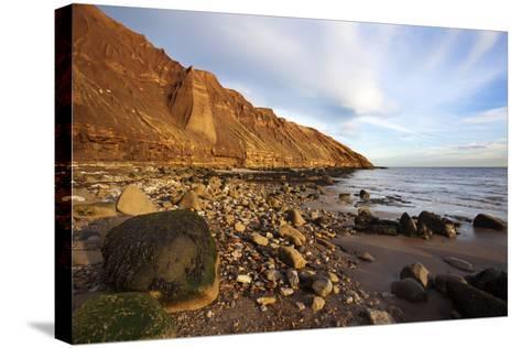 Rocky Shoreline Below Carr Naze-Mark Sunderland-Stretched Canvas Print