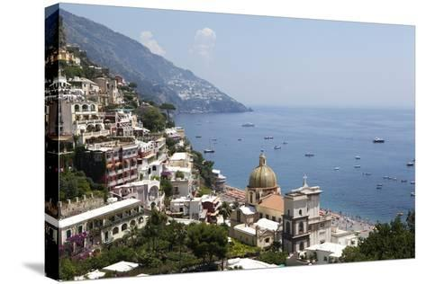 View of Positano-Oliviero Olivieri-Stretched Canvas Print