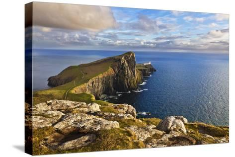 Neist Point and Lighthouse-Neale Clark-Stretched Canvas Print