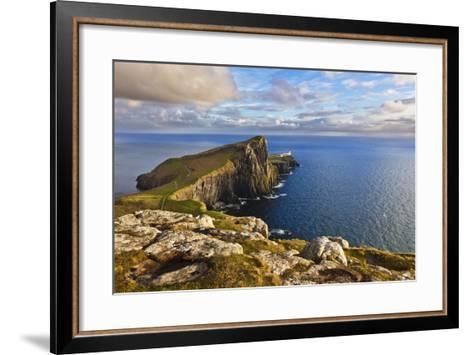 Neist Point and Lighthouse-Neale Clark-Framed Art Print