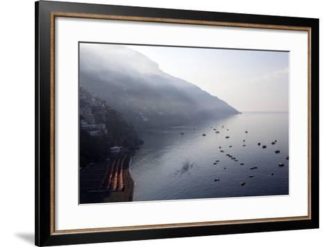 The Port of Positano-Oliviero Olivieri-Framed Art Print