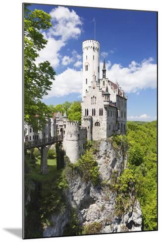 Lichtenstein Castle in Spring, Swabian Alb, Baden Wurttemberg, Germany, Europe-Markus Lange-Mounted Photographic Print