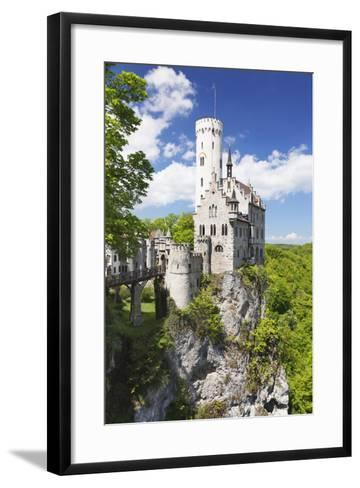 Lichtenstein Castle in Spring, Swabian Alb, Baden Wurttemberg, Germany, Europe-Markus Lange-Framed Art Print