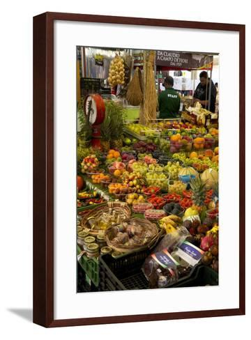 Fruit and Vegetable Stall at Campo De Fiori Market, Rome, Lazio, Italy, Europe-Peter Barritt-Framed Art Print