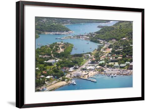 View of Falmouth Harbour-Frank Fell-Framed Art Print