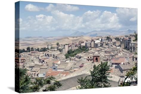 View of the Town of Corleone, Sicily, Italy, Europe-Oliviero Olivieri-Stretched Canvas Print