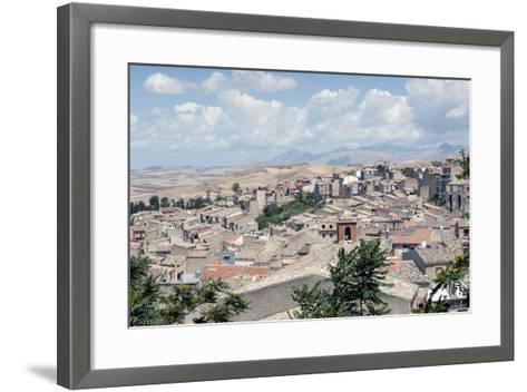 View of the Town of Corleone, Sicily, Italy, Europe-Oliviero Olivieri-Framed Art Print