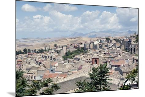 View of the Town of Corleone, Sicily, Italy, Europe-Oliviero Olivieri-Mounted Photographic Print