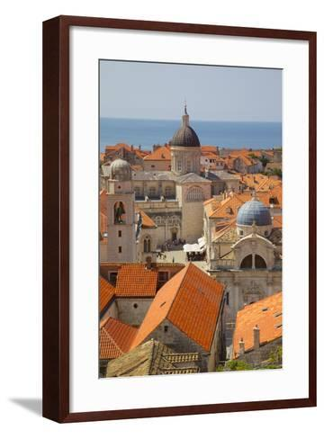Old Town Rooftops and Cathedral Dome-Frank Fell-Framed Art Print