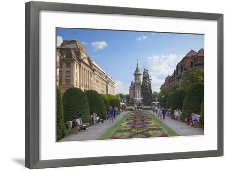 Metropolitan Cathedral in Piata Victoriei, Timisoara, Banat, Romania, Europe-Ian Trower-Framed Art Print