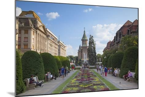 Metropolitan Cathedral in Piata Victoriei, Timisoara, Banat, Romania, Europe-Ian Trower-Mounted Photographic Print