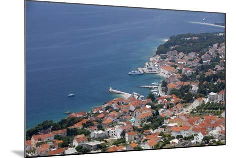 High View of Bol and Harbour, Brac Island, Dalmatian Coast, Croatia, Europe-John Miller-Mounted Photographic Print