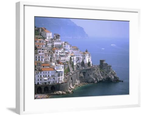 Amalfi Coast, UNESCO World Heritage Site, Campania, Italy, Mediterranean, Europe-Rolf Richardson-Framed Art Print
